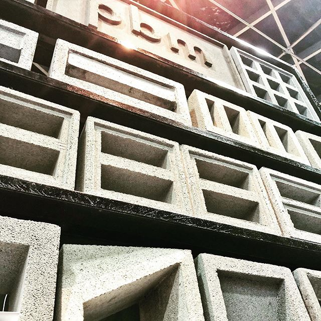 Beautiful breeze blocks!!! Oohhh the possibilities!! These guys @pbm_ventblock have got these figured out! Check out their booth @archidex.my #exhalegroup #architecture #concrete #breezeblocks #ventblock #ventblocks #facade #screen