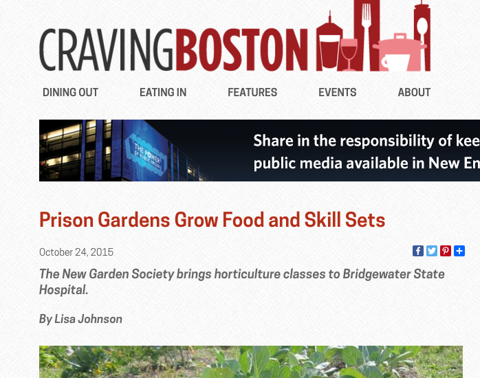 WGBH's blog highlights food pantry donations from Bridgewater State Hospital horticulture program