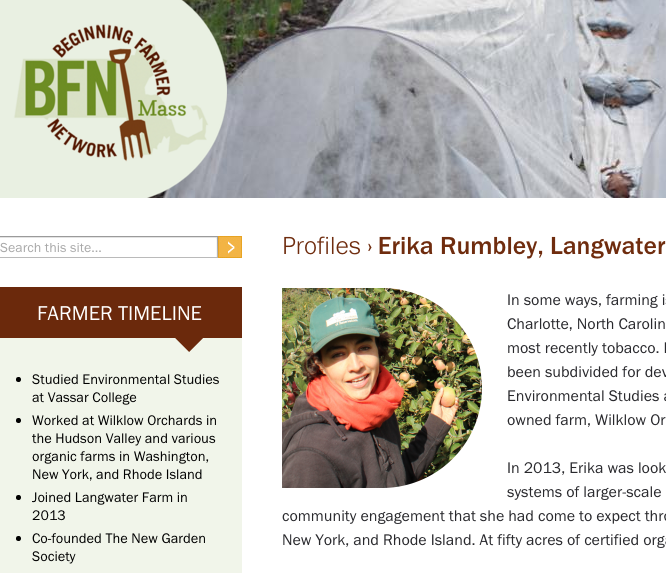 Beginning Farmer Network Profile: Erika Rumbley