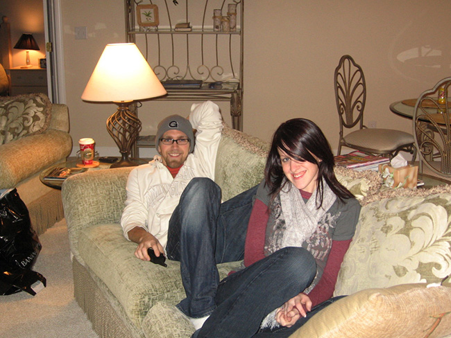 Couch time during our first year of marriage:)
