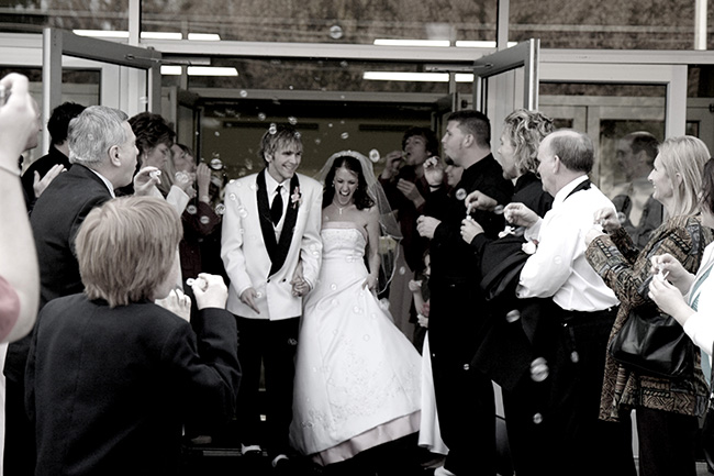 Wedding day cuties:)