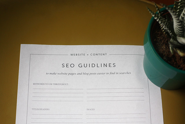The SEO Action Plan - Free Printable Worksheet