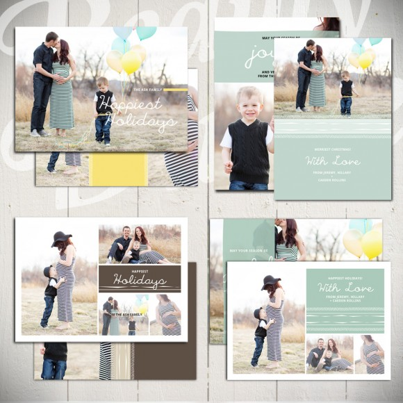Happiest Holidays Christmas Card Templates