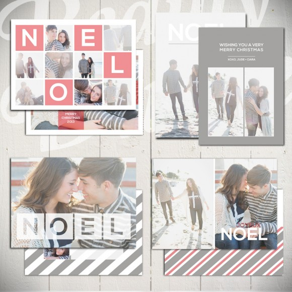 Noel Squared Christmas Card Template