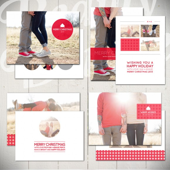 Christmas Card Templates Snowball Fight