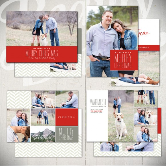 Christmas Card Templates Warmest Wishes