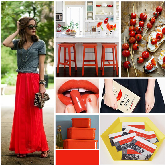 Tomato Color Moodboard