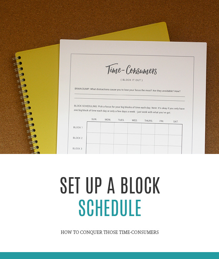 How to Set up A Block Schedule and Be More Productive