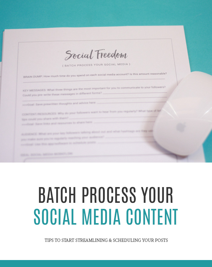 Tips for Batch Processing Your Social Media Content - Streamline & schedule your social posts