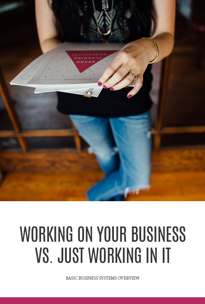 Systems Overview | Working on the business vs. in the business