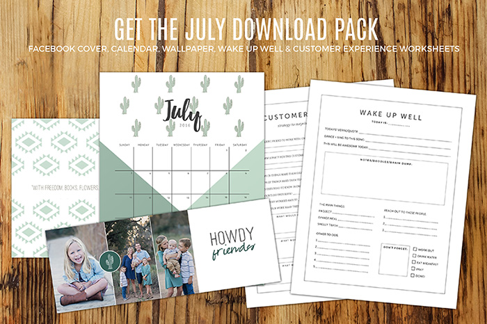 Free July Download Pack for Subsribers