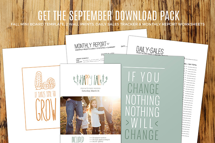 Get the Free September Download Pack