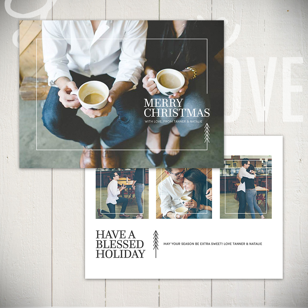 Christmas Card Templates by Laurie Cosgrove Design - Urban Holiday A