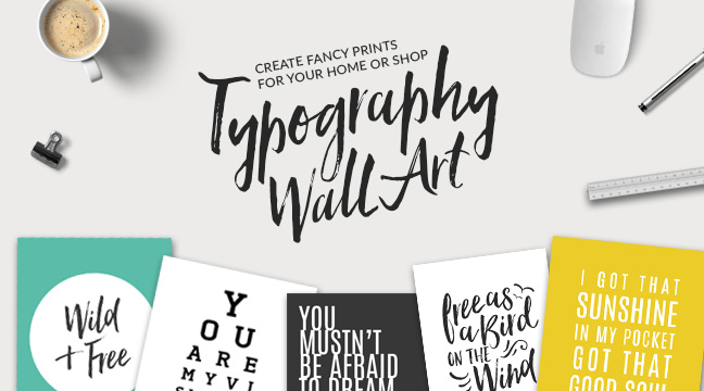 New Video Class! Typography Wall Art on Skillshare