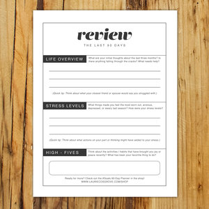 Free Goals Review Worksheet
