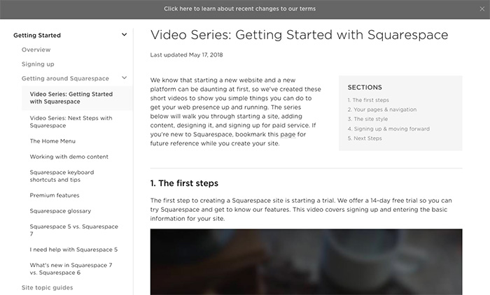 Squarespace Help - Getting Started