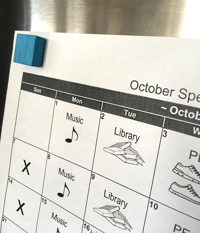Post Calendars on the Fridge