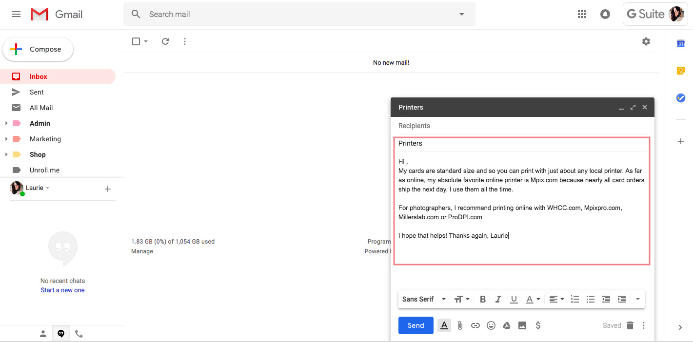 Using canned responses in Gmail