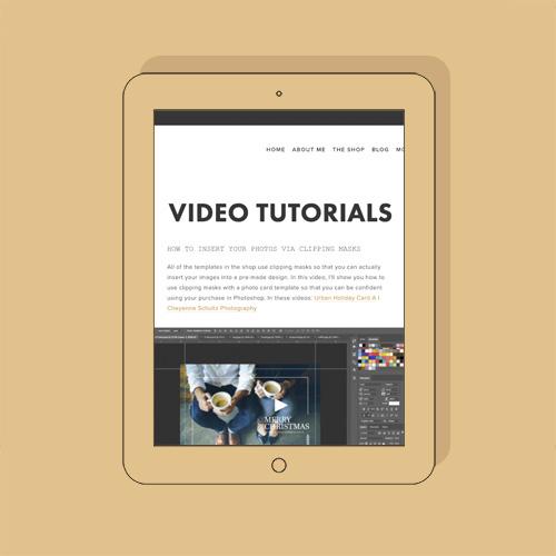 Photoshop Template Membership - All Access Templates Video tutorials.