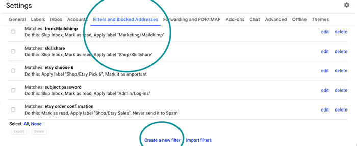 Email Filtering in Gmail