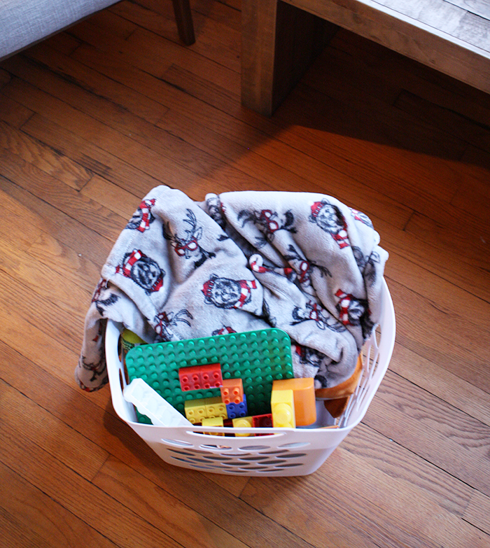 Clutter Basket - 5 Evening Routine Ideas I Use to Make Life More Simple