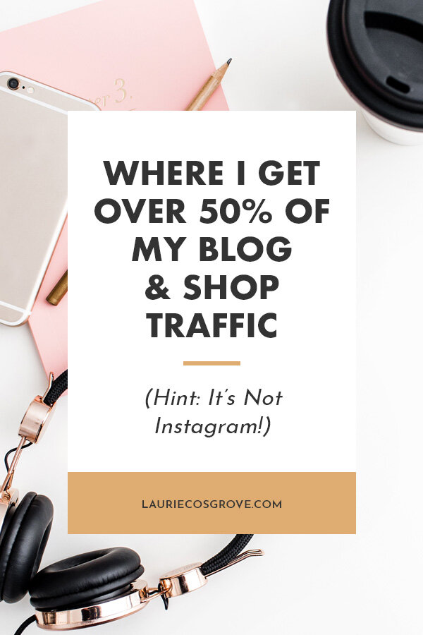 Where I Get Over 50% Of My Blog & Shop Traffic - Laurie Cosgrove Design
