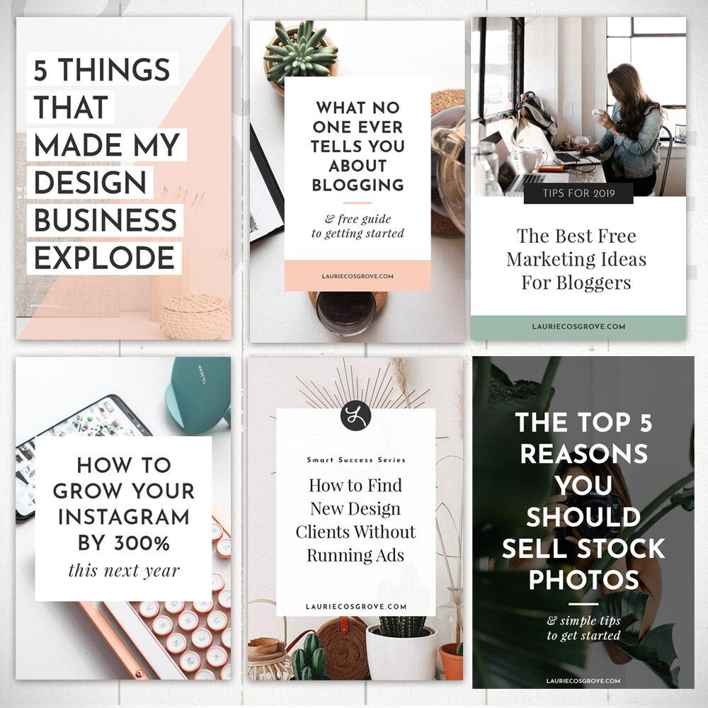 Essential Pinterest Templates - Laurie Cosgrove Design