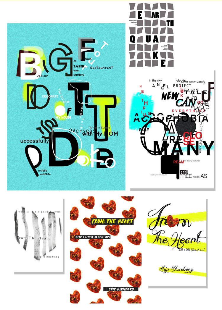 TYPOGRAPHIC POSTERS    Ji Woo Lee    was my top performing junior at Yeungnam University in 2016. She took my courses for four semesters. Ji Woo grasps typography and design like few other students in her class at Yeungnam. It is my pleasure to watch her grow to love design.