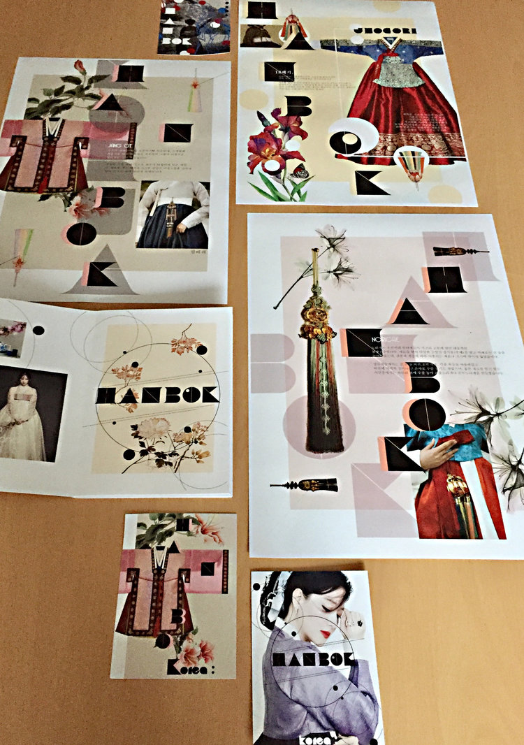 RESEARCH, DESIGN, AND PACKAGE A TOPIC   A detailed, illustrated description of Korean traditional dress, the Hanbok, delightfully designed and packaged with a contemporary spin by first-year student Ji Su Lee at Yeungnam University, South Korea.