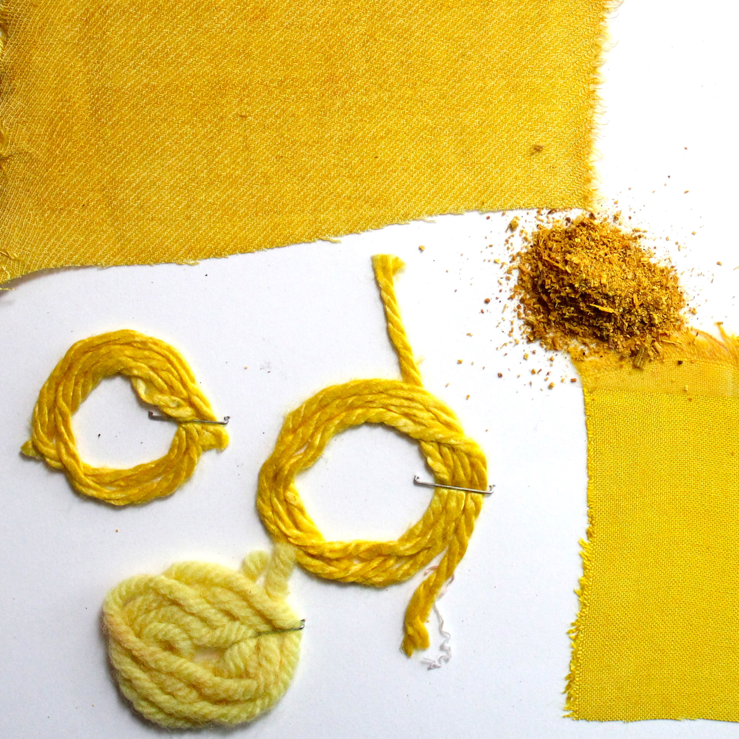 Osage  Osage dye comes from the heartwood of the Osage Orange tree. It is a lightfast sunny yellow dye.