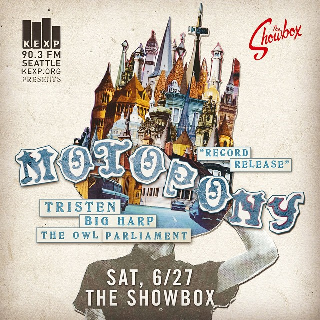 SEATTLE! Ready your arrows. We are opening for the @motoponymusic album release at #Showbox Market with @bigharpband and #Tristen. All ages. Saturday, June 27th. #WelcomeYou