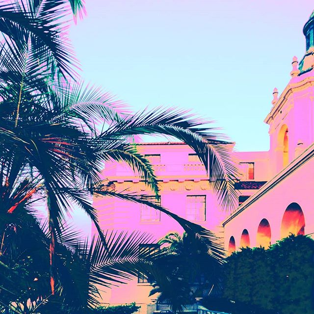 Summer time 🌺 and the livin' is easy 🌴🌴🌴 #summertime #palmtrees #pasadena #prettyinpink