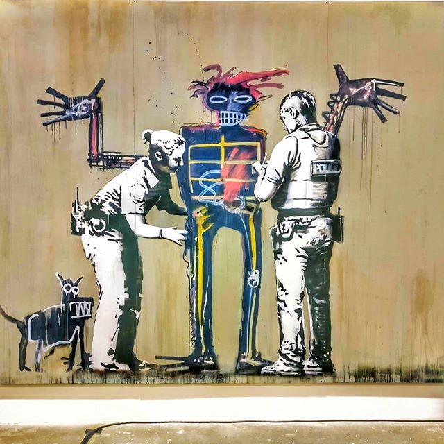 Los Angeles 🌴 Last weekend to check out #beyondthestreets #banksy #basquiat #streetart #losangeles