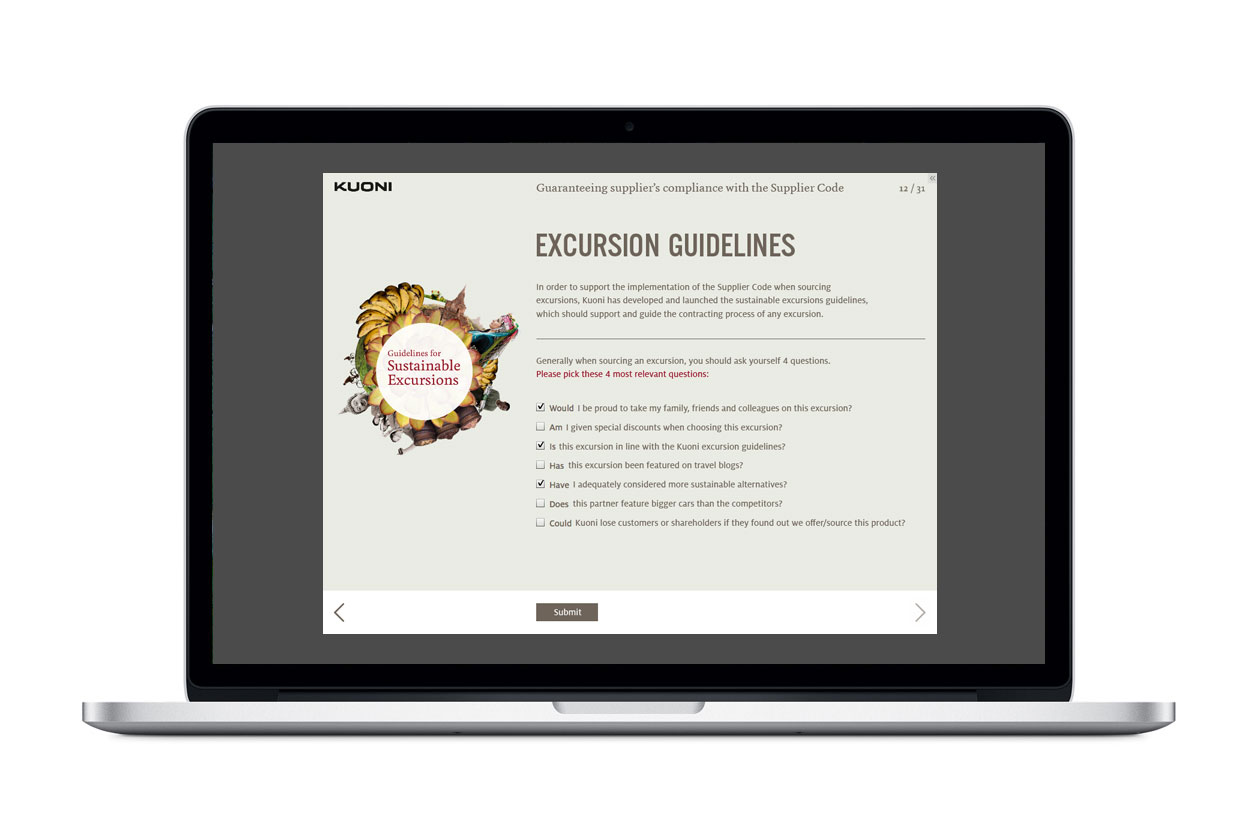 Supplier Code of Conduct E-Learning. Excursion Guidelines.