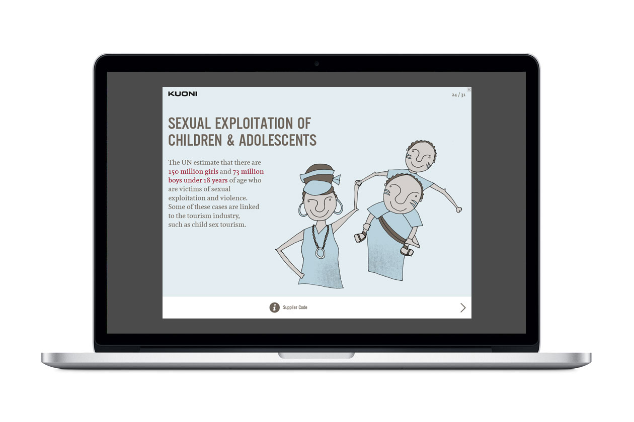 Supplier Code of Conduct E-Learning. Sexual Exploitation of Children and Adolescents.