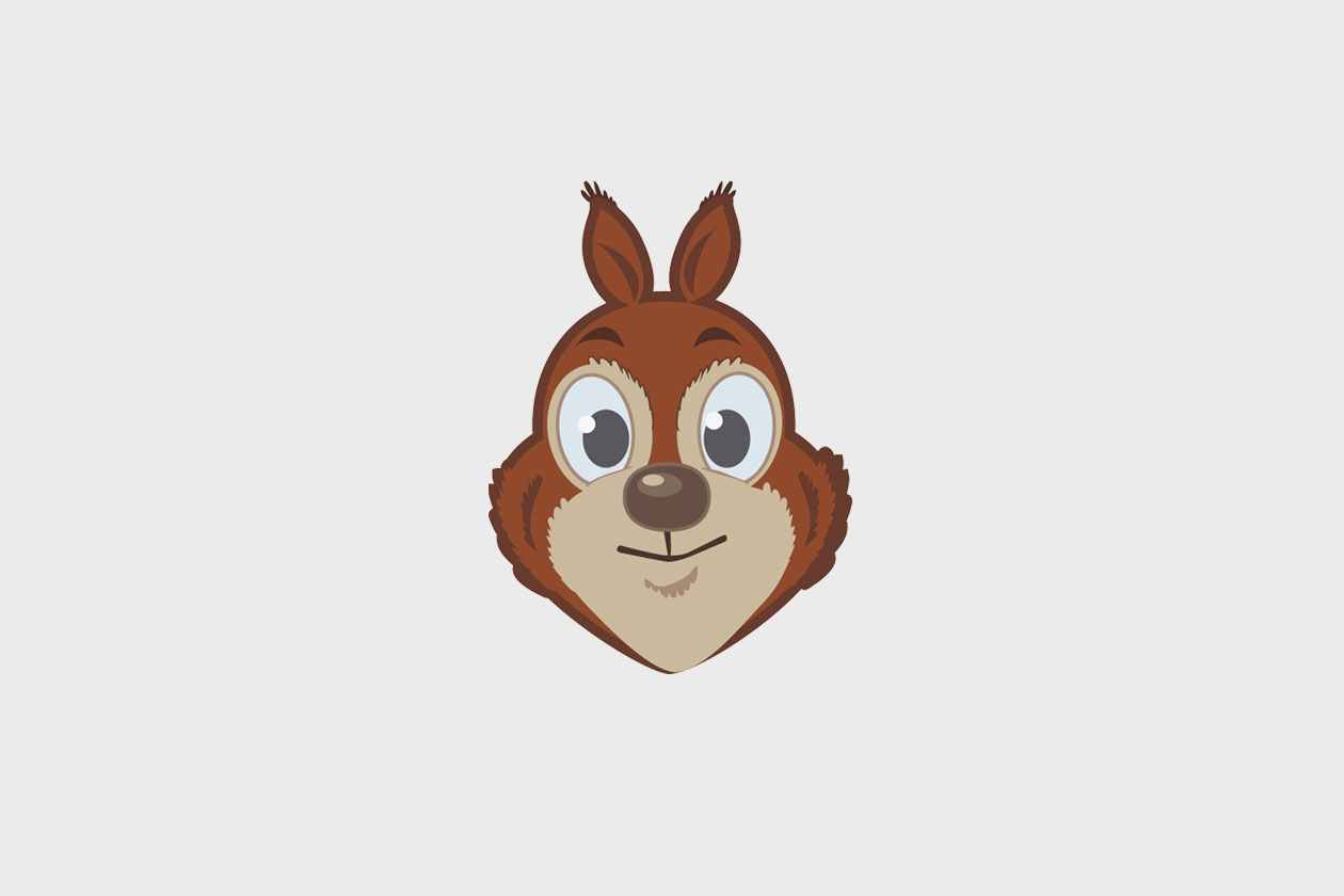 New Identity for Lifestyle App. Squirrel Mascot.
