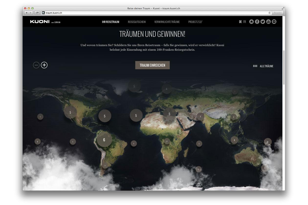 Reise deinen Traum – Campaign. Website Map.