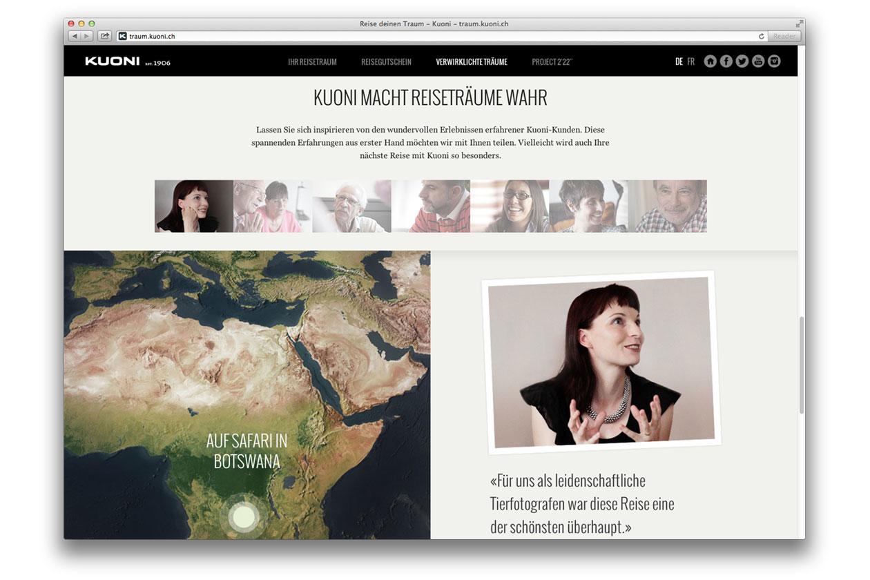 Reise deinen Traum – Campaign. Website Testimonials.