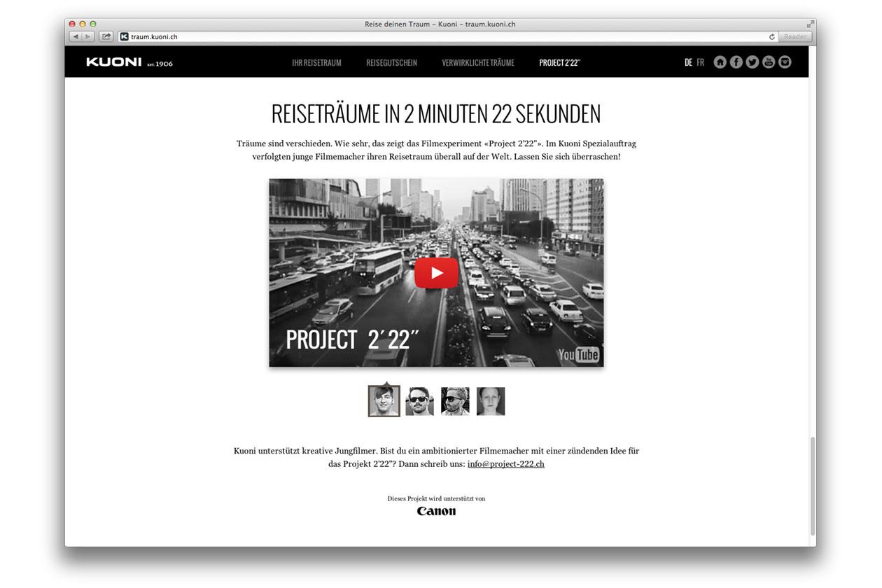 """Reise deinen Traum – Campaign. Project 2'22""""."""