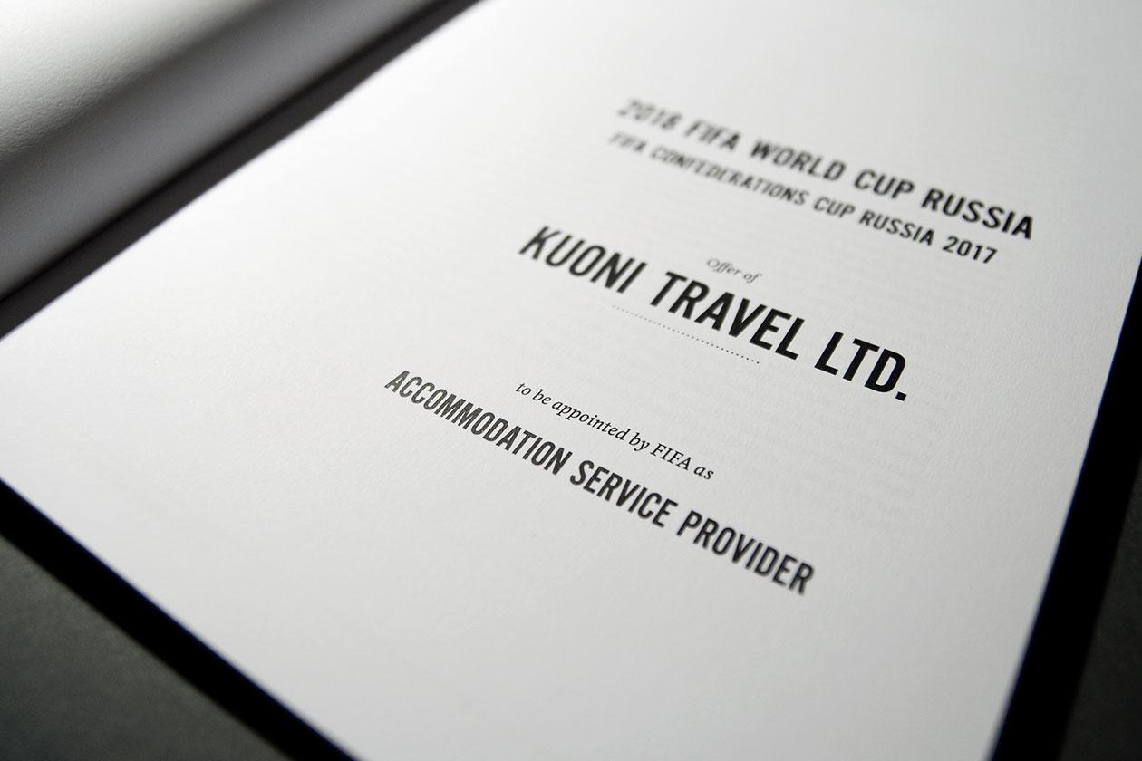 FIFA Tender Offer. Half-Title Close Up.
