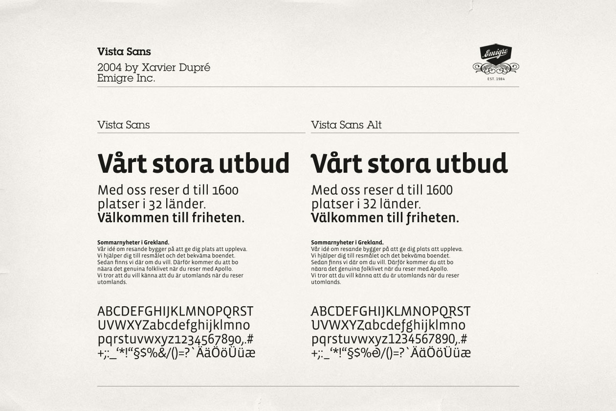 New Identity for Apollo. Font Vista Sans.