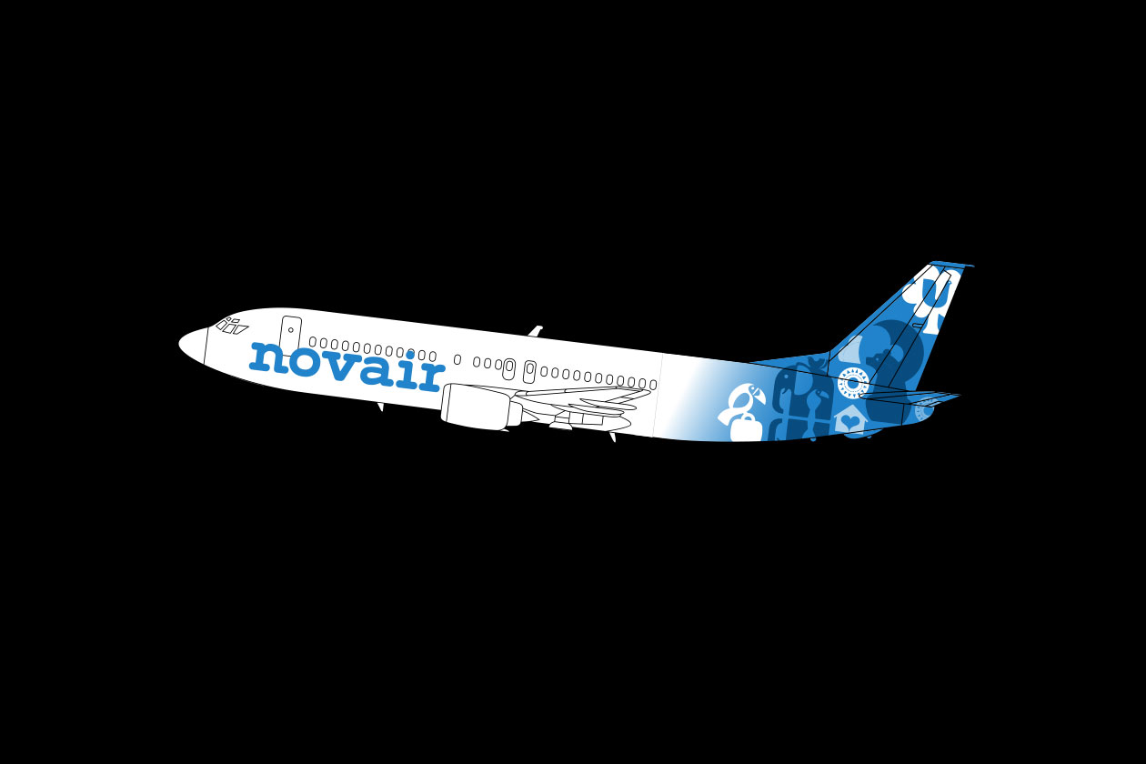 New Identity for Apollo. Novair Plane.