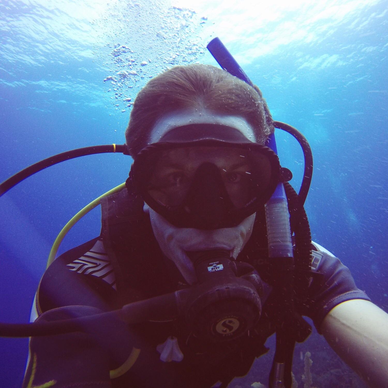 Mein erster Unterwasser-Selfie