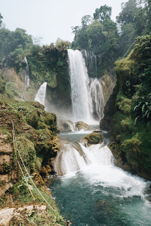 Der Pulhapanzak Wasserfall.