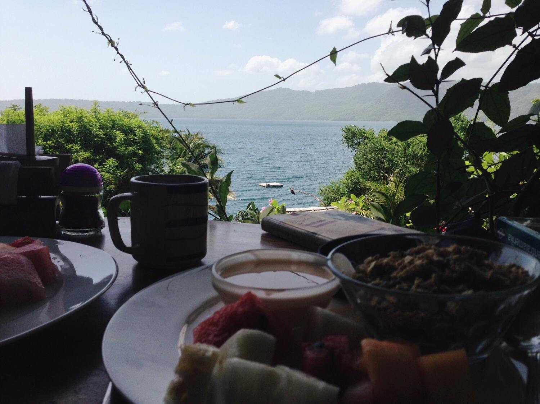 Ein Frühstück mit Aussicht.