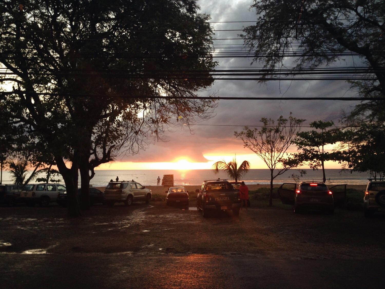 Abendstimmung am Parkplatz vor dem Strand. ;)