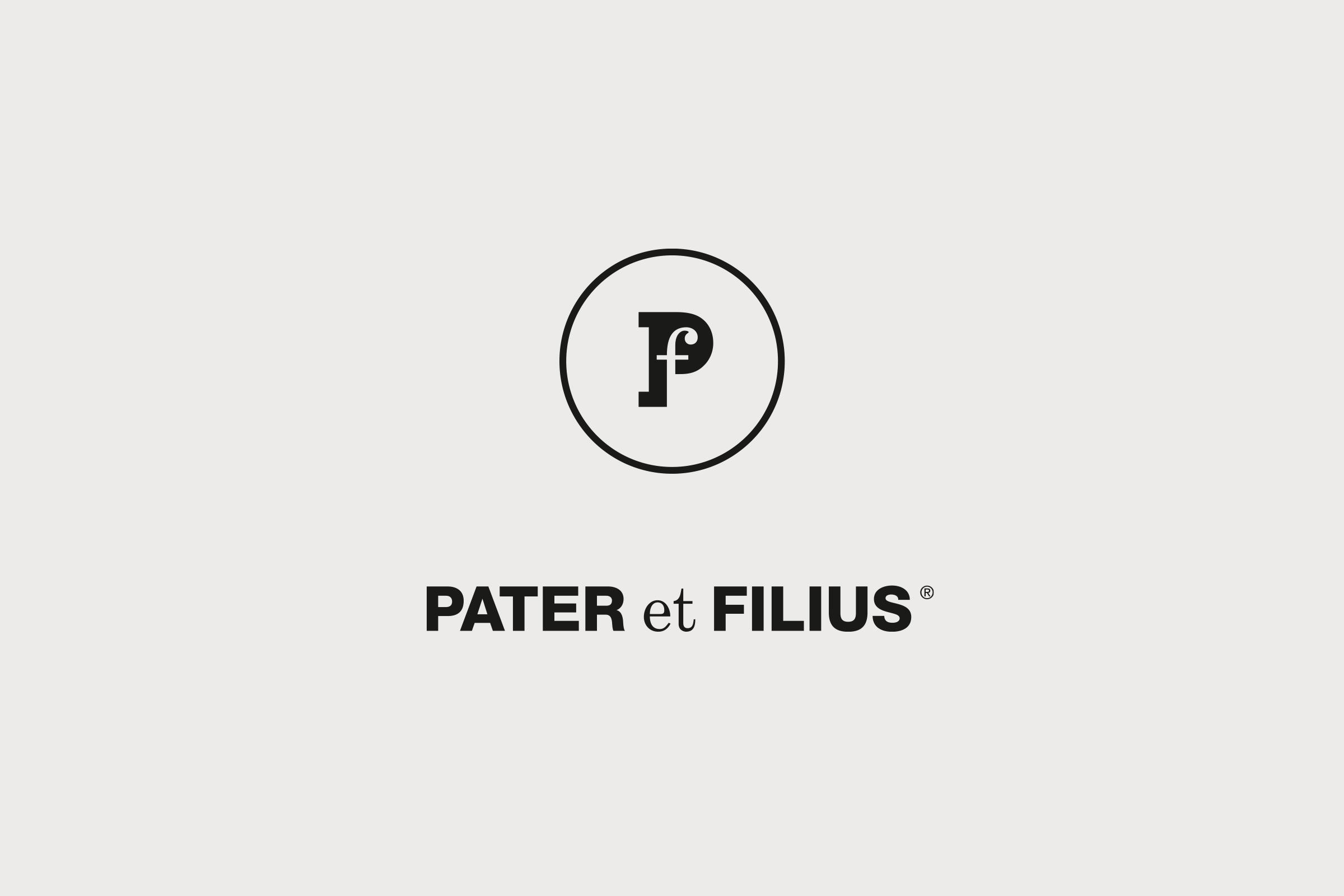 PATER et FILIUS. Logotype.