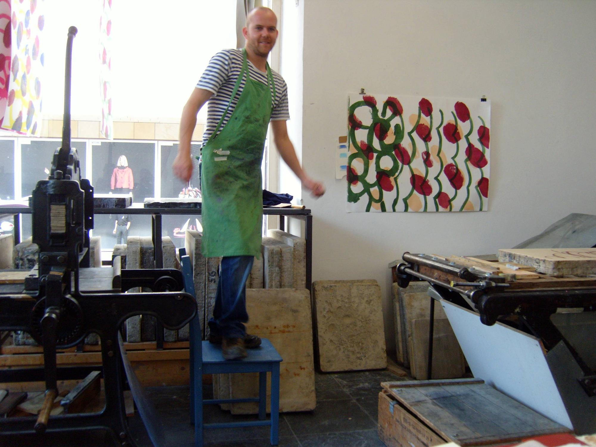 Joris Martens at work in Munich