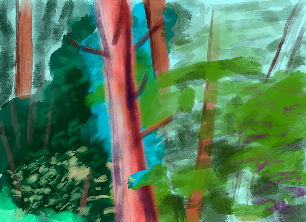 'Evening' tablet drawing