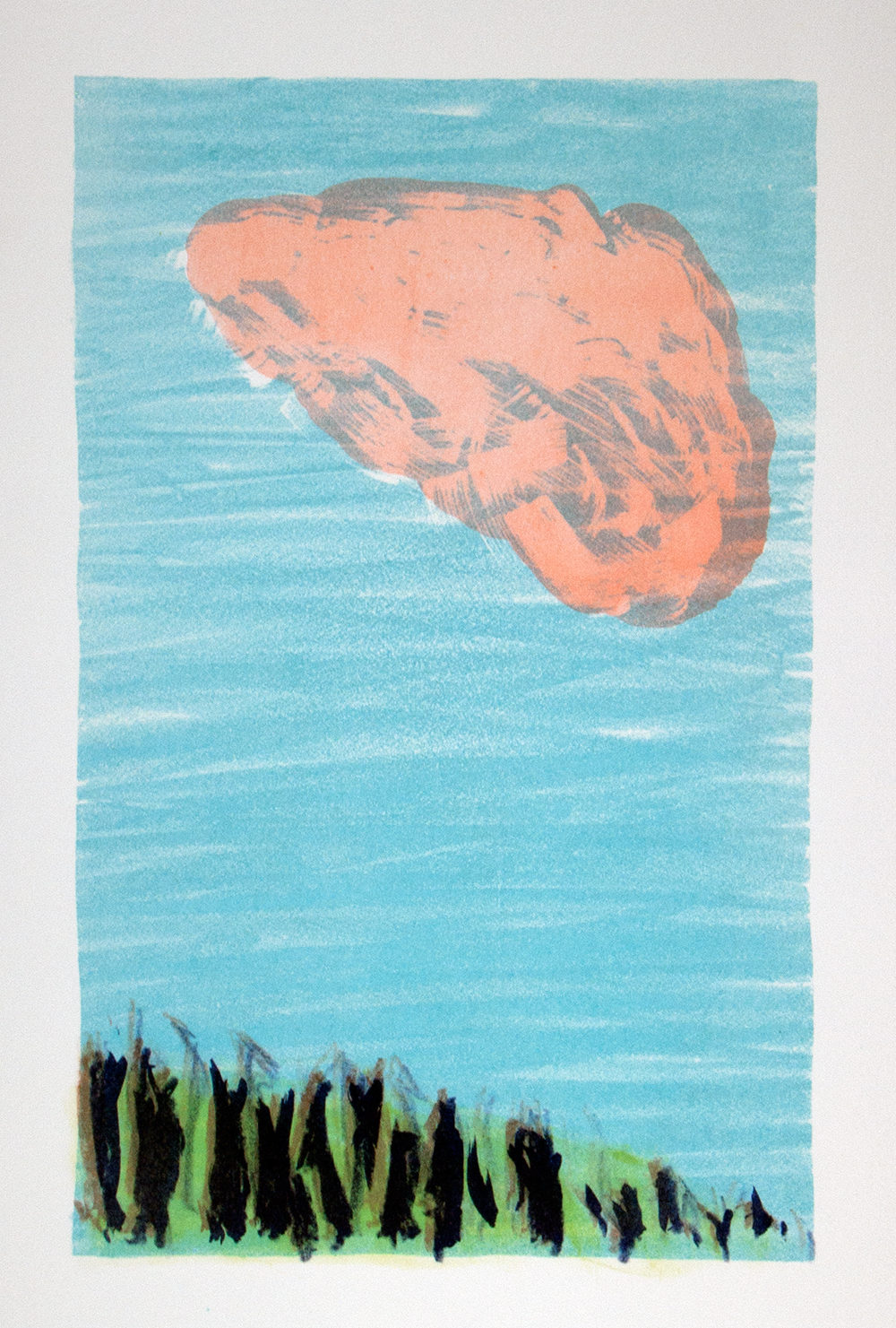 'Cloud' from the  portfolio 'Alle Dinghe'  containing 6 lithographs